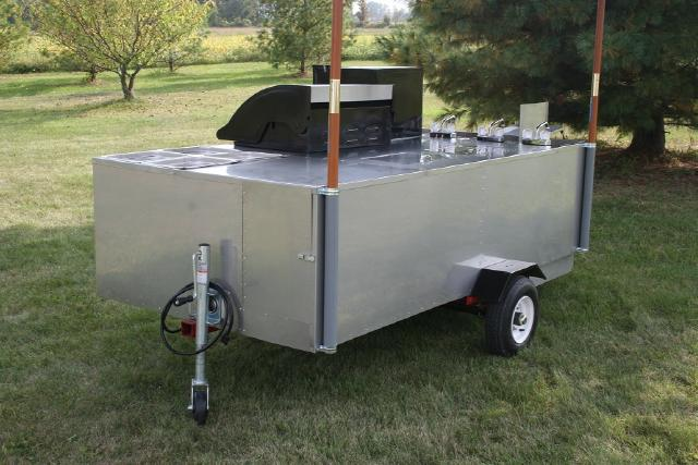 California Grill Hot Dog Cart Stainless Steel Grill