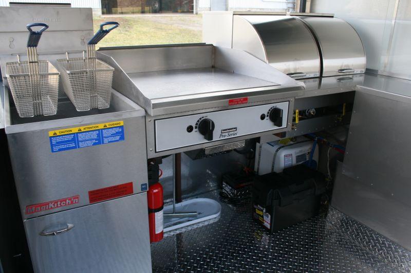 Enterprise Hot Dog Cart Enclosed Griddle Fryer 4