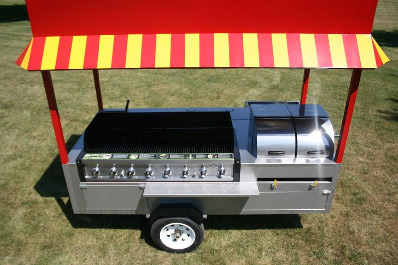 Grand Master Hot Dog Cart Vending Concession Trailer Stand