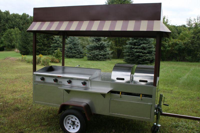 Grand Master Griddle Hot Dog Cart Griddle 4 Sinks 6 Steam Pans