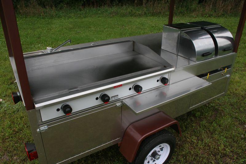 Grand Master Griddle Hot Dog Cart Griddle 4 Sinks 6