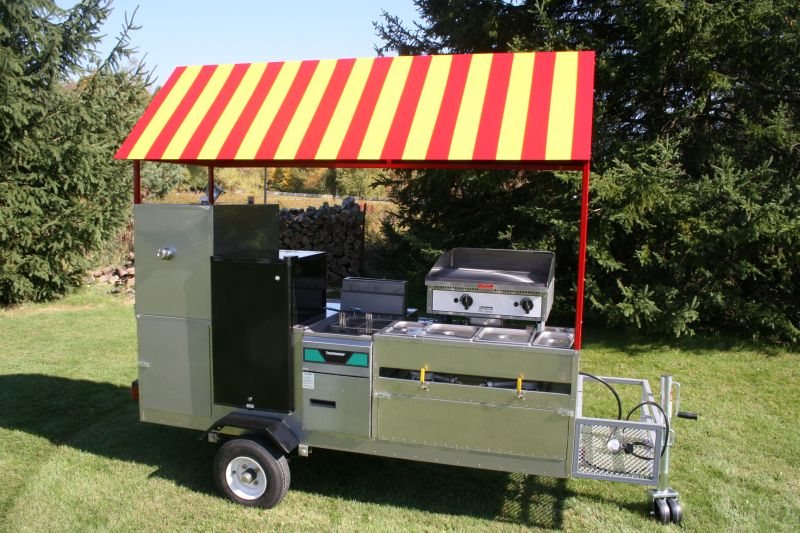 Limo Fully Loaded Hot Dog Cart Griddle Fryer Fridge