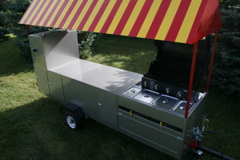 Superlimo Hot Dog Cart Stainless Steel Grill 4 Sinks