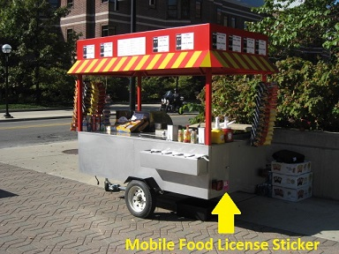Mobile Food License Sticker - Hot Dog Cart Company