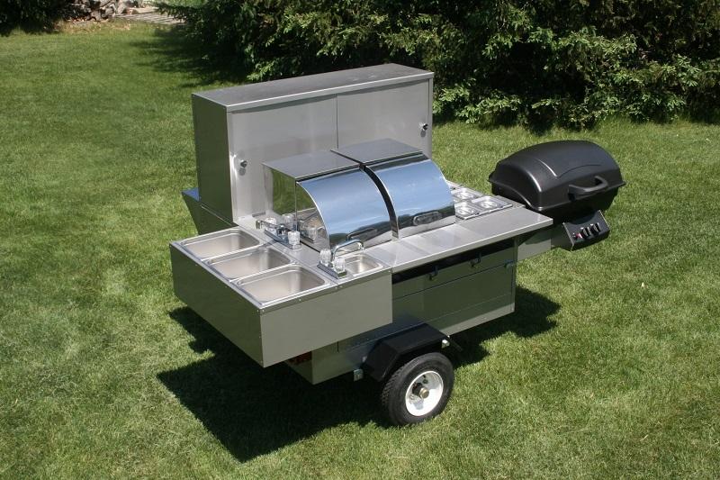 Lightning Bolt Grill Hot Dog Cart Vending Concession