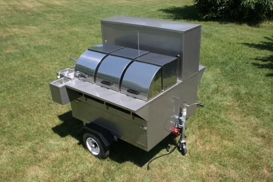 Lightning Bolt Hot Dog Cart 3 Steam Tables Sinks Propane Burners