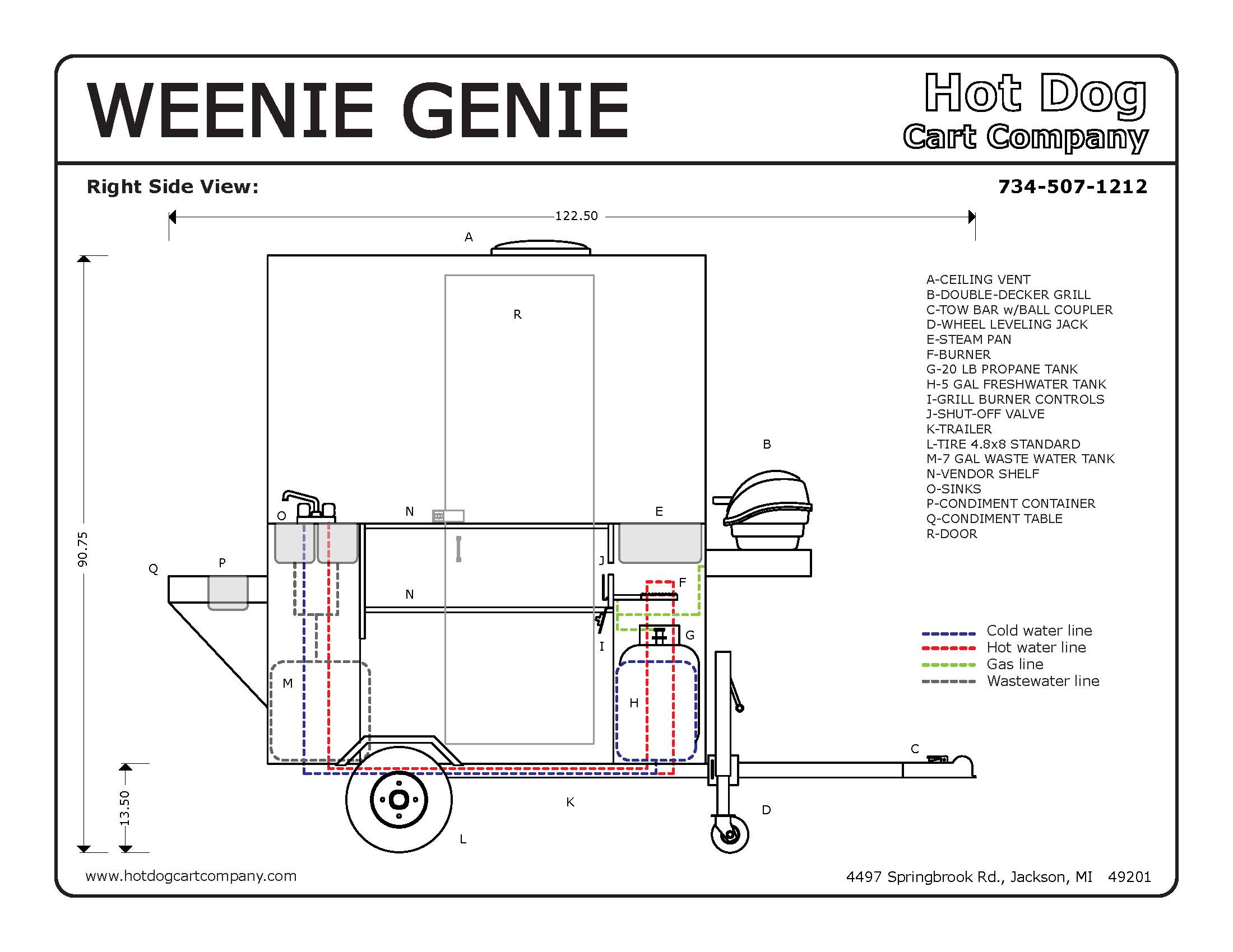 Weenie Genie Hot Dog Cart Enclosed | Condiment Table | 4 ... on jackson king v schematic, guitar string diagram, jackson performer wiring, jackson electric guitar schematic, jackson flying v wiring, jca20h diagram, jackson 3-way switches, jackson guitar wiring schematics,