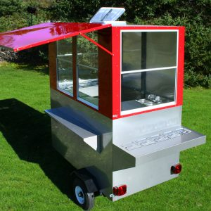 food trailer for sale hot dog cart enclosed grill weenie genie