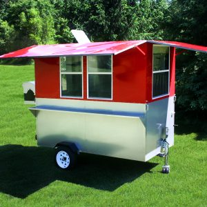 food trailer hot dog cart enclosed grill weenie wagon