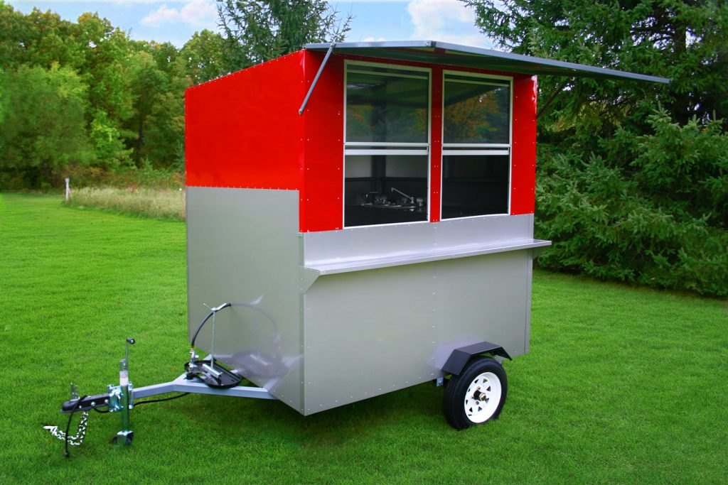 hot dog cart enclosed the comet