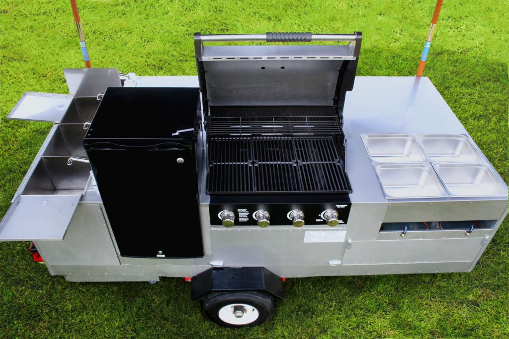 hot dog cart grill california