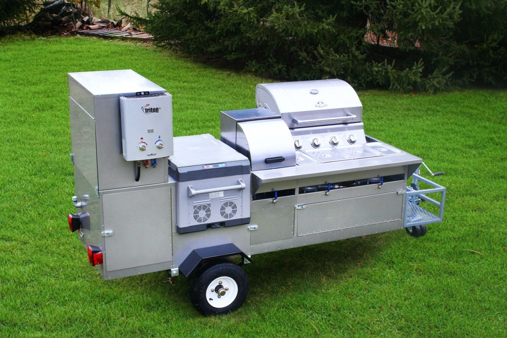 hot dog cart grill fridge the bullet