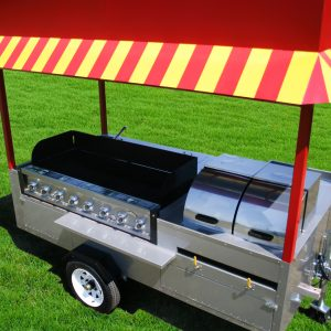 hot dog cart grill grand master