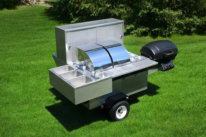 hot dog cart for sale lightning bolt grill trailer