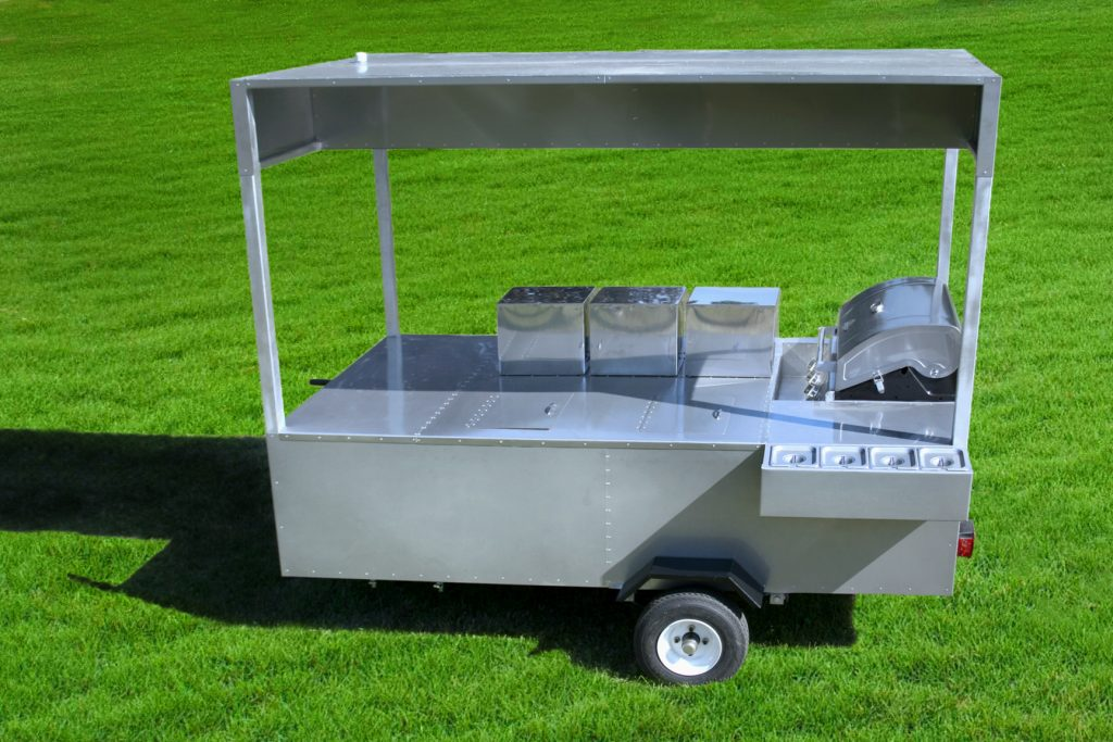 hot dog cart grill professional