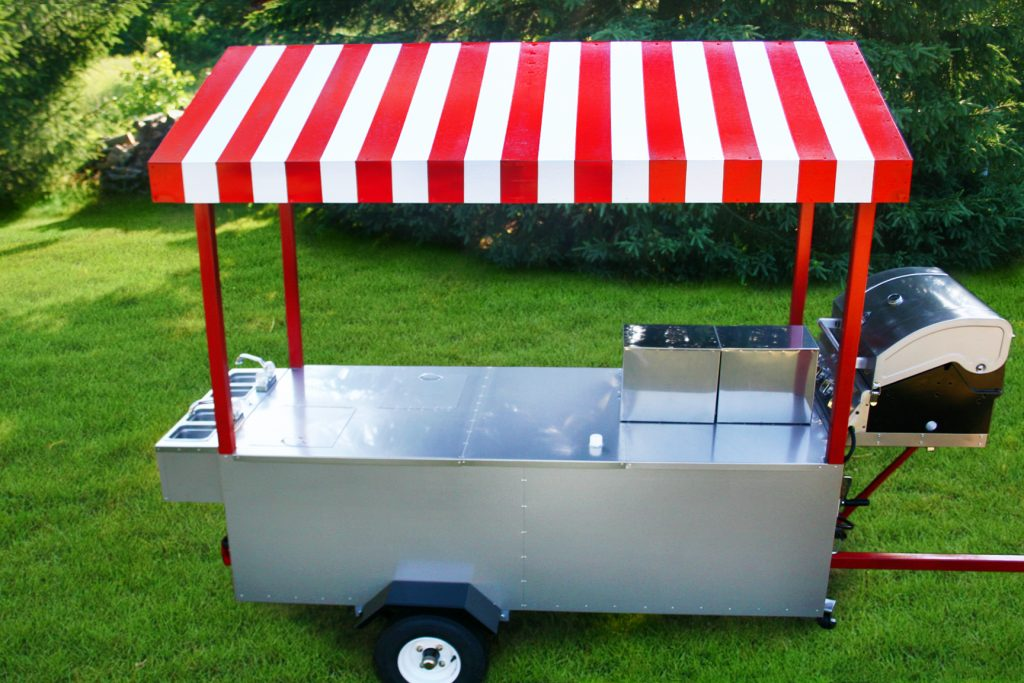 hot dog cart grill the boss