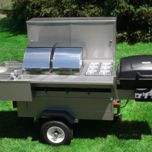 Lightning Bolt Grill Hot Dog Cart