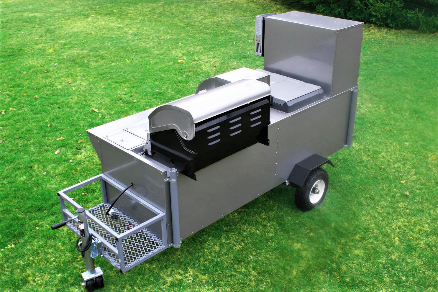 The Bullet Hot Dog Cart Grill 12v Fridge Propane
