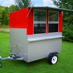 enclosed hot dog cart comet trailer