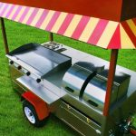 hot dog cart with griddle