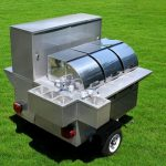 hot dog stand trailer lightning bolt